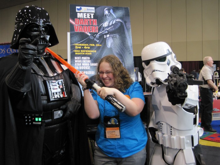 a photo of me with Darth Vader and a Storm Trooper