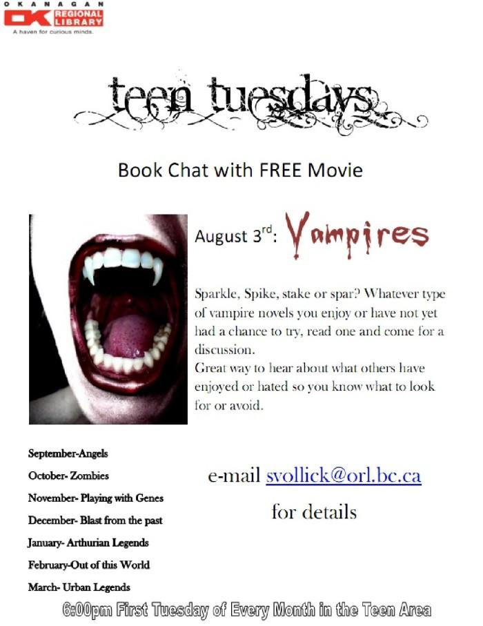 teen tuesdays poster